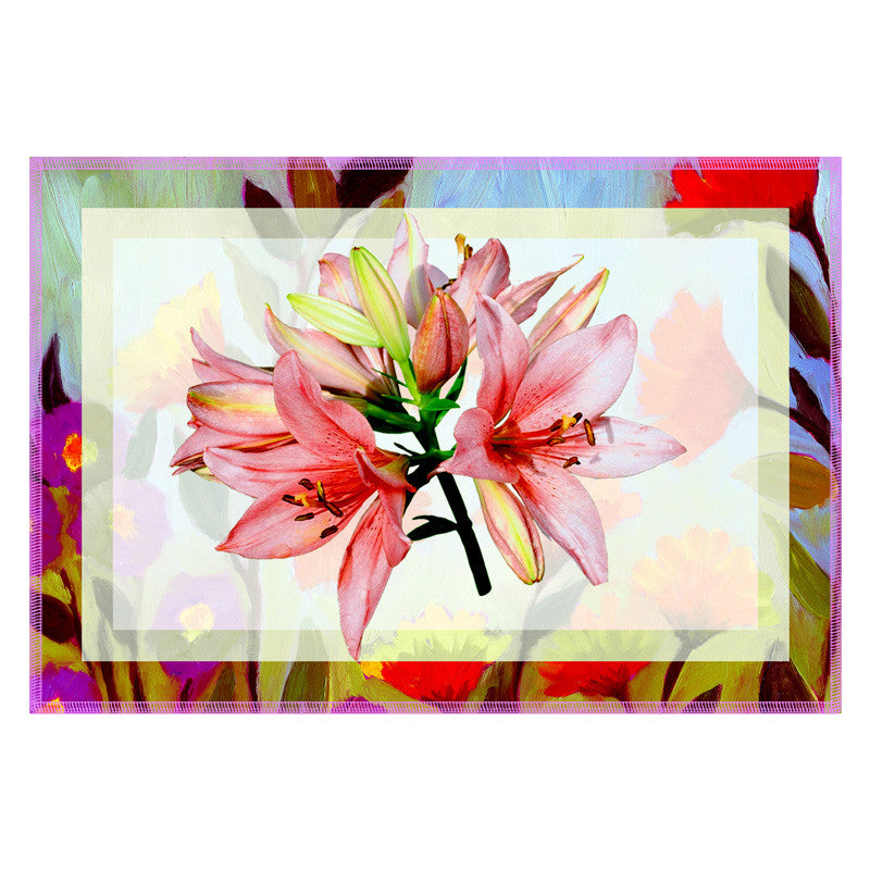Floral Multicolor Border Table Mat - Set Of 6