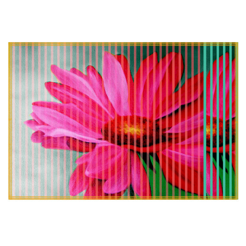 Leaf Designs Pink Stripe & Floral Table Mat - Set of 6