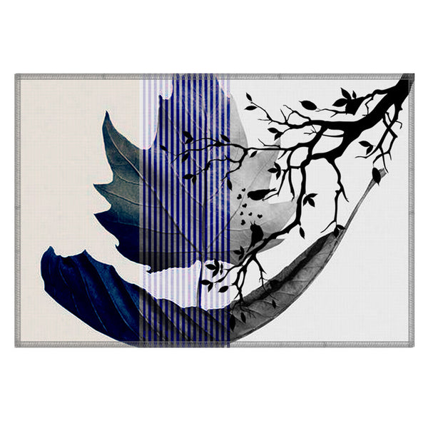 Leaf Designs Purple Charcoal Earth Flora Table Mats - Set Of 6