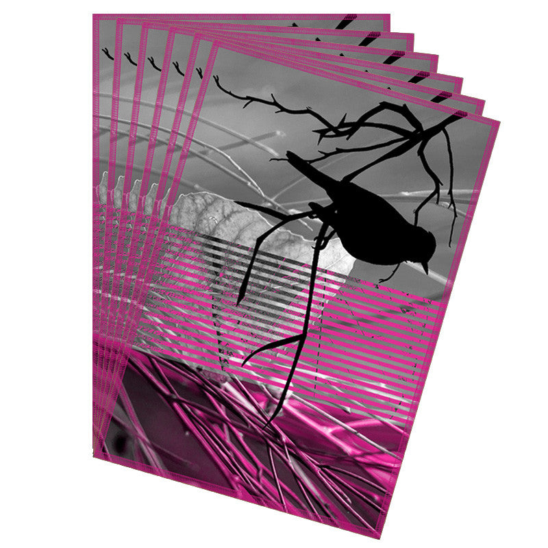 Leaf Designs Pink Black Earth Flora Table Mats - Set Of 6