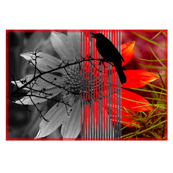Leaf Designs Rose Black Earth Flora Table Mats - Set Of 6