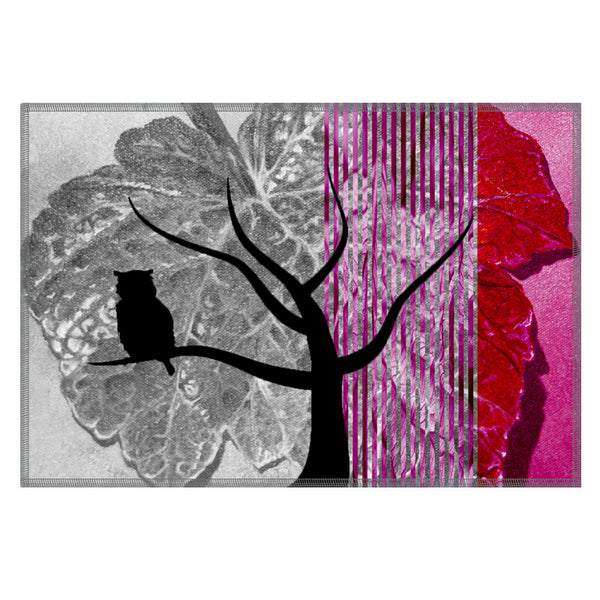 Leaf Designs Crimson Black Earth Flora Table Mats - Set Of 6