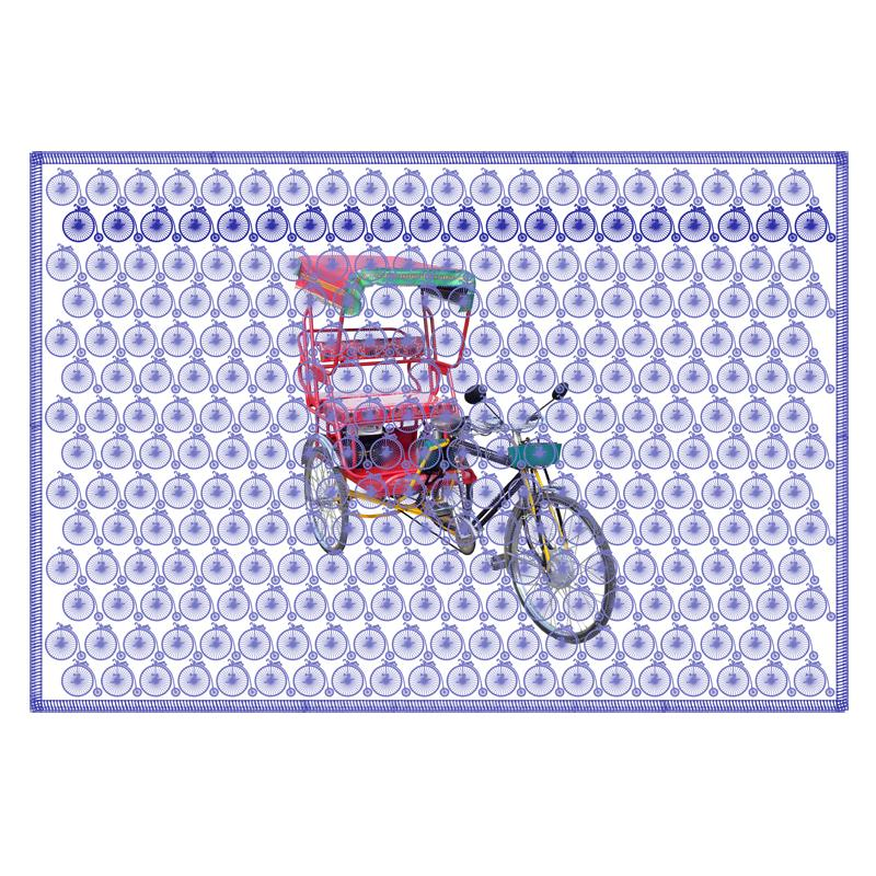 Leaf Designs Grape Vintage Rickshaw Table Mat - Set Of 6