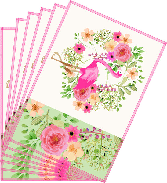 Leaf Designs Pink & Green Flamingo Table Mats - Set of 6