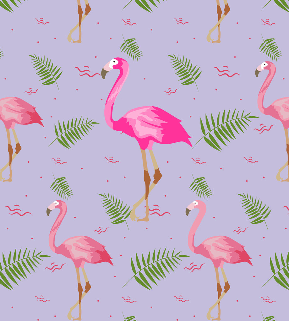 Leaf Designs Pink & Blue Flamingo Table Mats - Set of 6