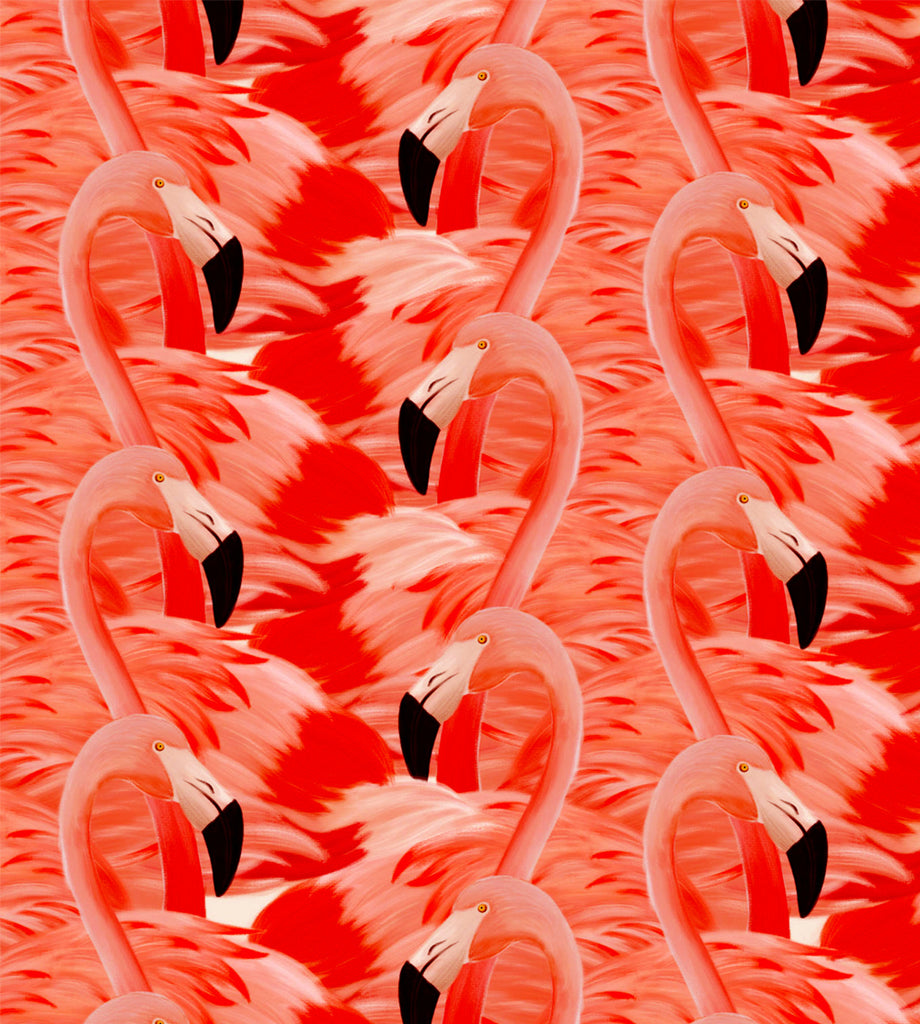 Leaf Designs Pink & Deep Red Flamingo Table Mats - Set of 6
