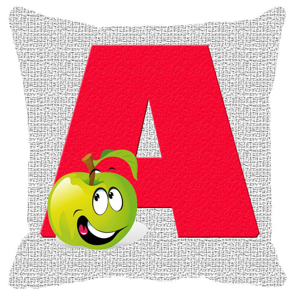 Leaf Designs Alphabet Cushion Cover A