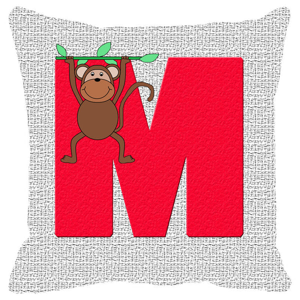 Leaf Designs Alphabet Cushion Cover M