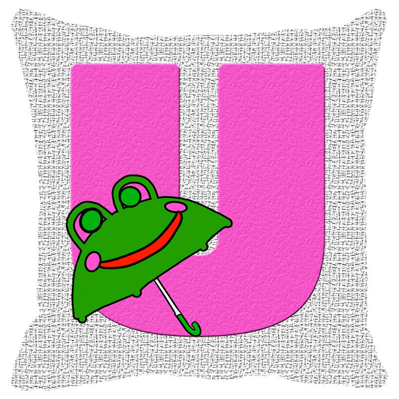 Leaf Designs Alphabet Cushion Cover U