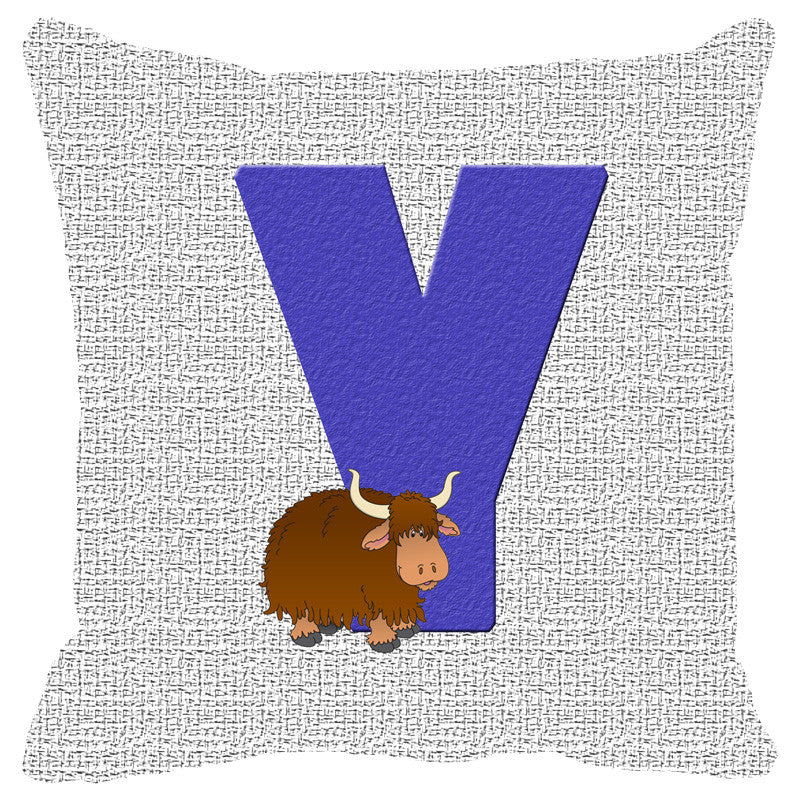 Leaf Designs Alphabet Cushion Cover Y