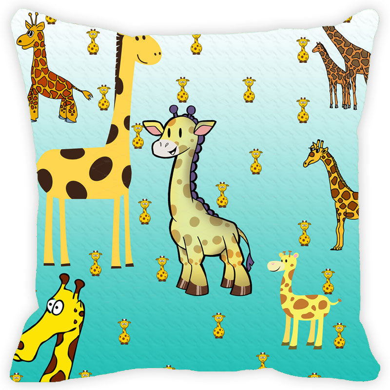 Leaf Designs Giraffe Cushion Cover