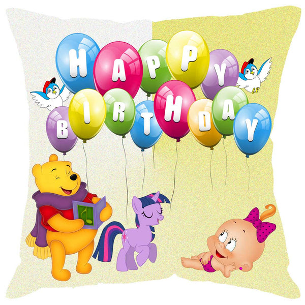 Fabulloso Happy B'day Cushion Cover by Leaf Designs
