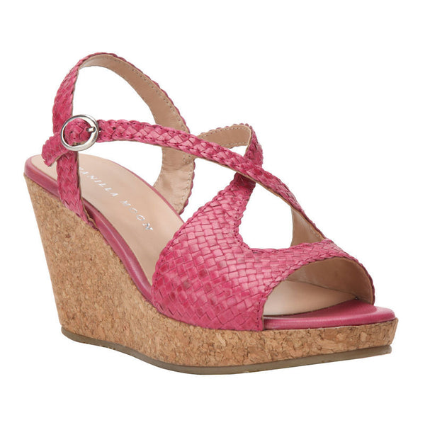 Vanilla Moon Mandy Pink Wedge Heels By Fabulloso