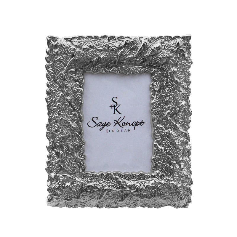 New Leaf Stainless Steel Photo Frame