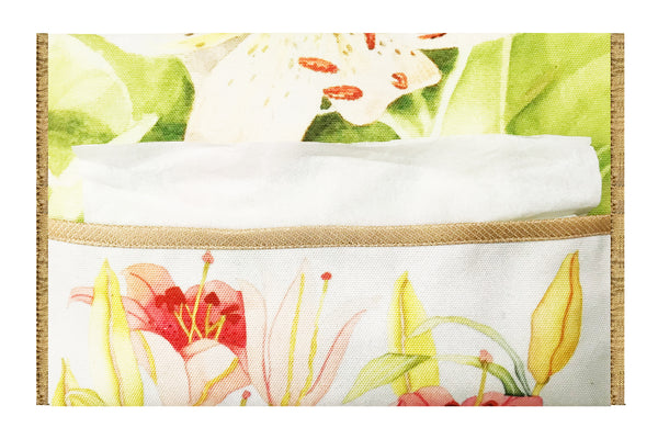 Leaf Designs Light Green Floral Tissue Cover