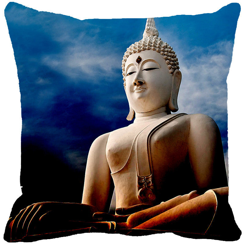 Leaf Designs Buddha Blue Cushion Cover