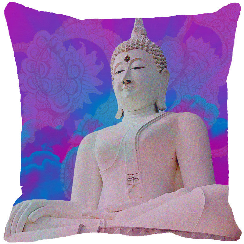 Leaf Designs Buddha Pink Cushion Cover