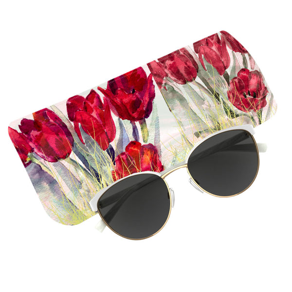 Fabulloso Red Tulip Spectacle Case