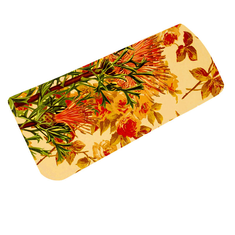 Fabulloso Mustard Floral Spectacle Case