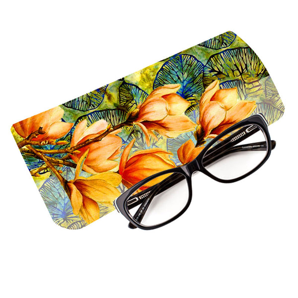 Fabulloso Tangerine Floral Spectacle Case
