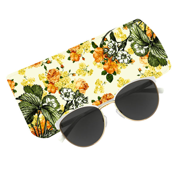 Fabulloso Yellow Floral Spectacle Case
