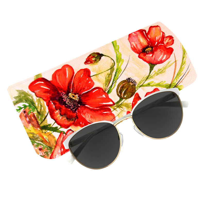 Fabulloso Red Floral Spectacle Case