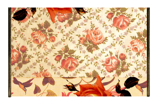 Leaf Designs Antique Orange Floral Tissue Cover