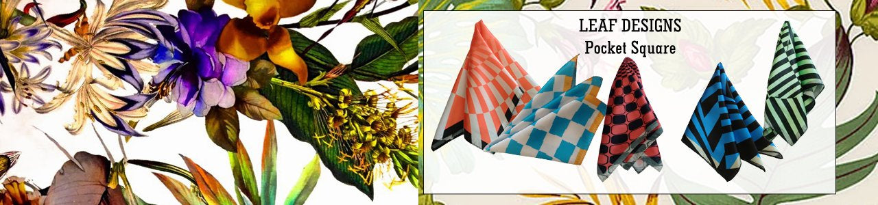 Leaf Designs Pocket Squares