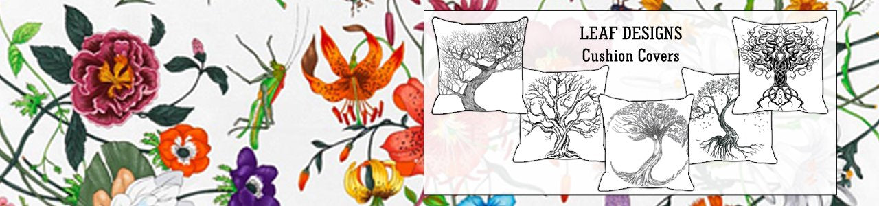 Leaf Designs Cushion Covers