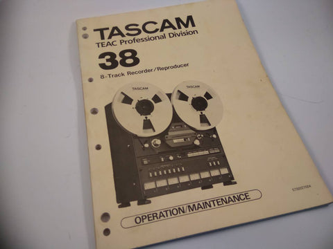 Tascam 38 original Service Manual