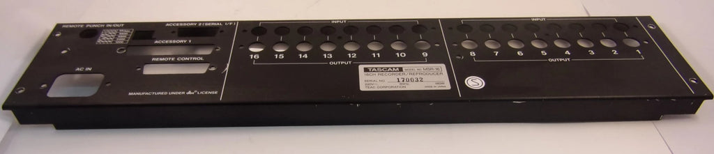 Tascam MSR-16 rear connector panel