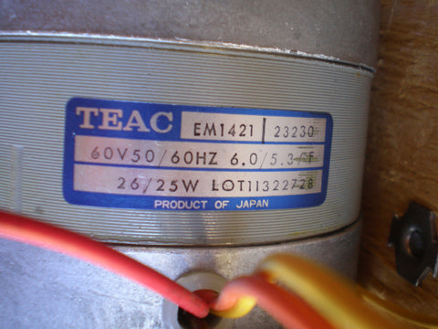 Teac A-3440 a-3340 and others motor model EM1421 left or right