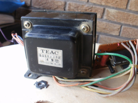Teac USA 110volts A3340S mains transformer and relay pcb 50563360