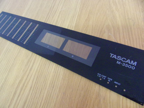 TASCAM 3500 Plastic panel Small VU end