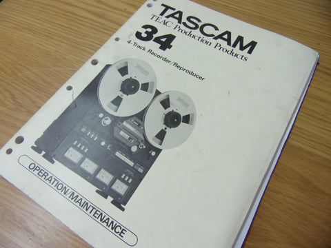 Original Tascam 34 operation/service/maintenance manual