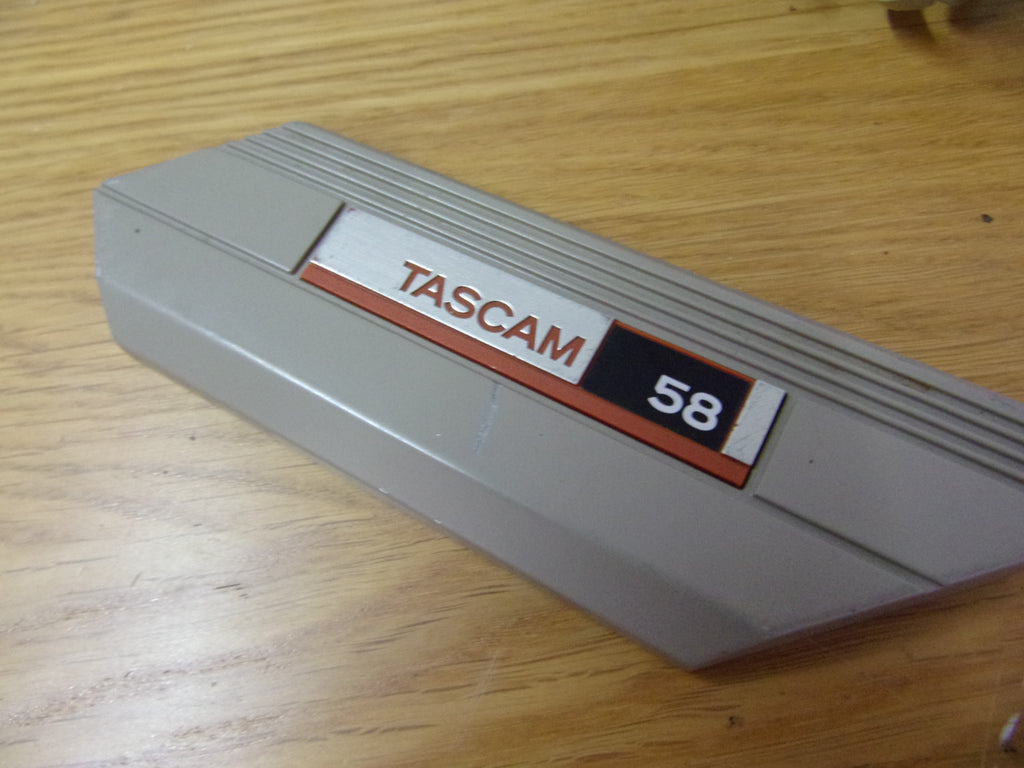 Tascam 58 front badge panel