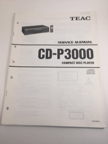 TEAC CD-P3000 Compact disc player service manual