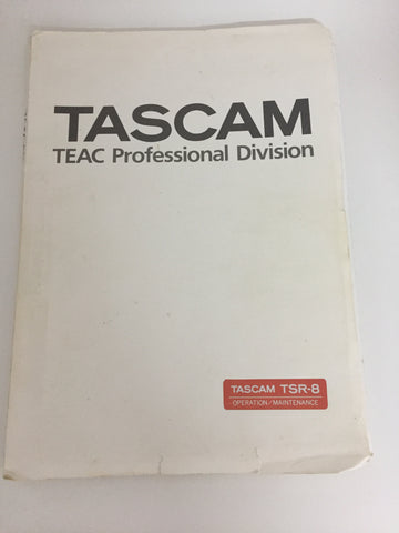 TASCAM TSR-8 OPERATION/MAINTENANCE TEAC Professional Division