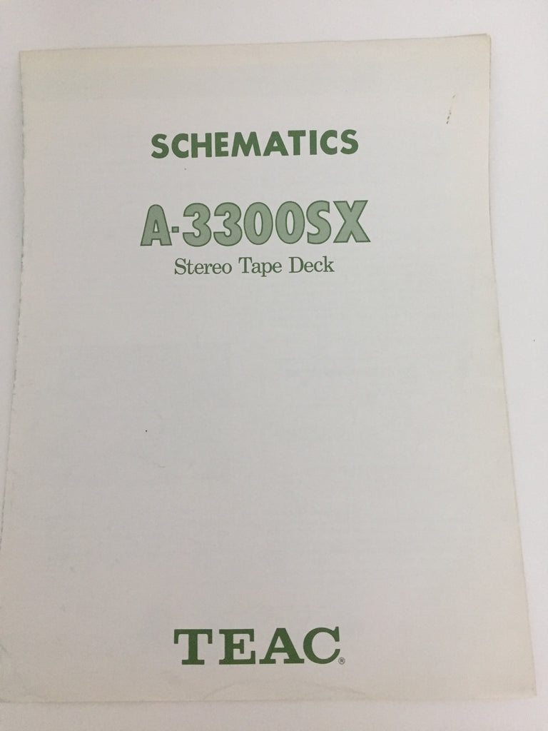 TEAC A-3300SX Stereo Tape Deck Owner's Manual
