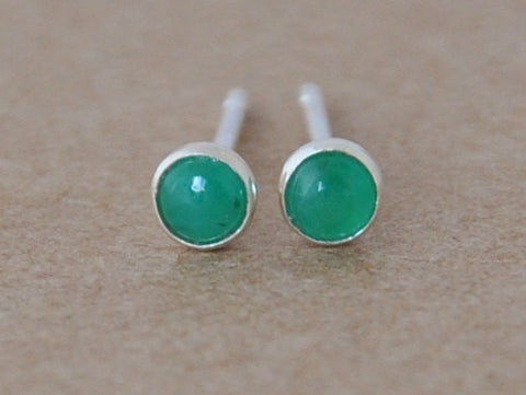 Tiny Emerald Earrings