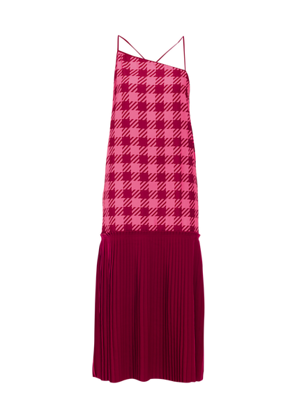 STRAP PLEAT DRESS