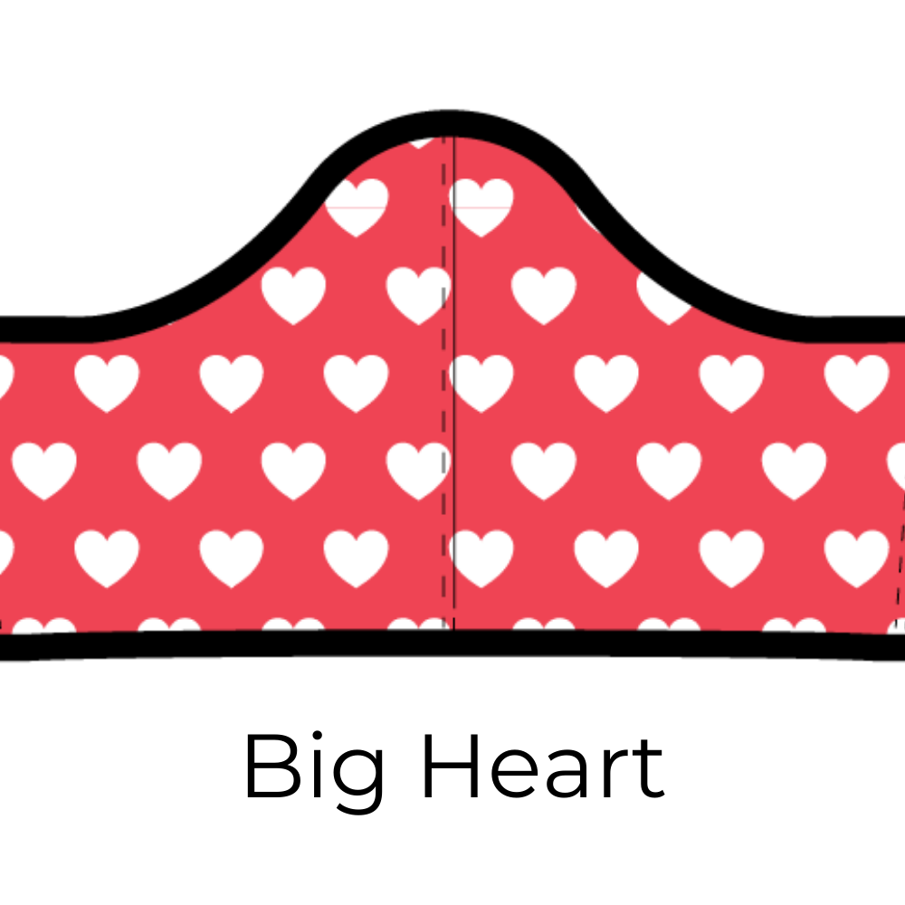"Kids ""Big Heart"" Reusable Face Mask + 5 Carbon Filters"