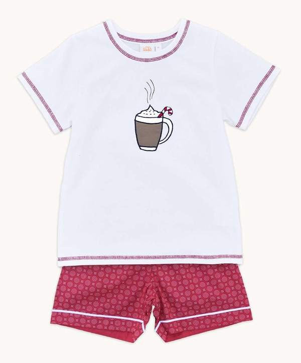 boys short cotton pajamas christmas design