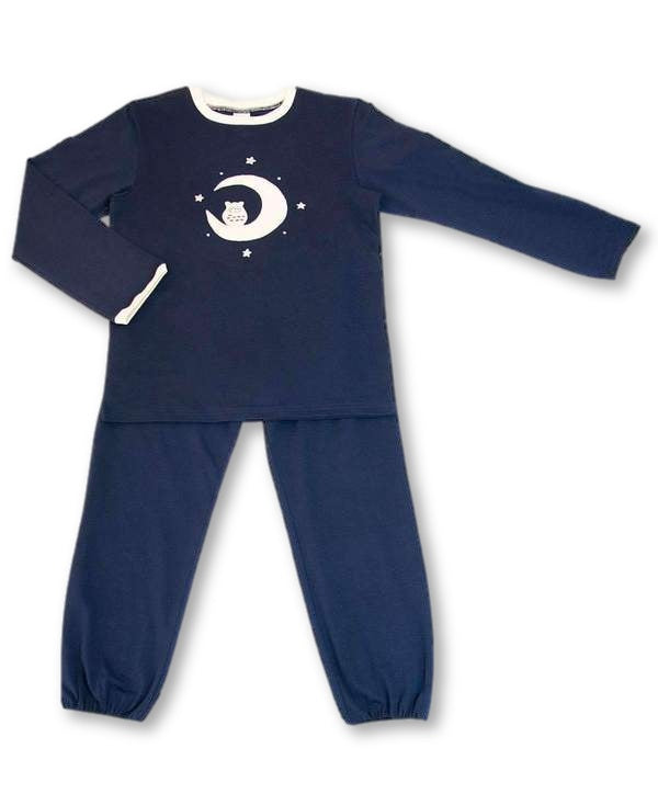 Boys Navy Blue Long pajama set