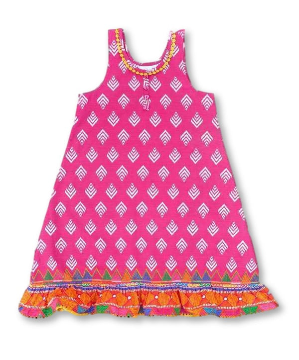 Girls Summer Nightdress Aztec Design