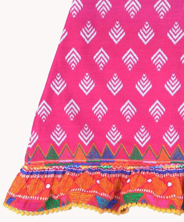 Girls Summer Nightdress Aztec Design Trim Lilala KIDS