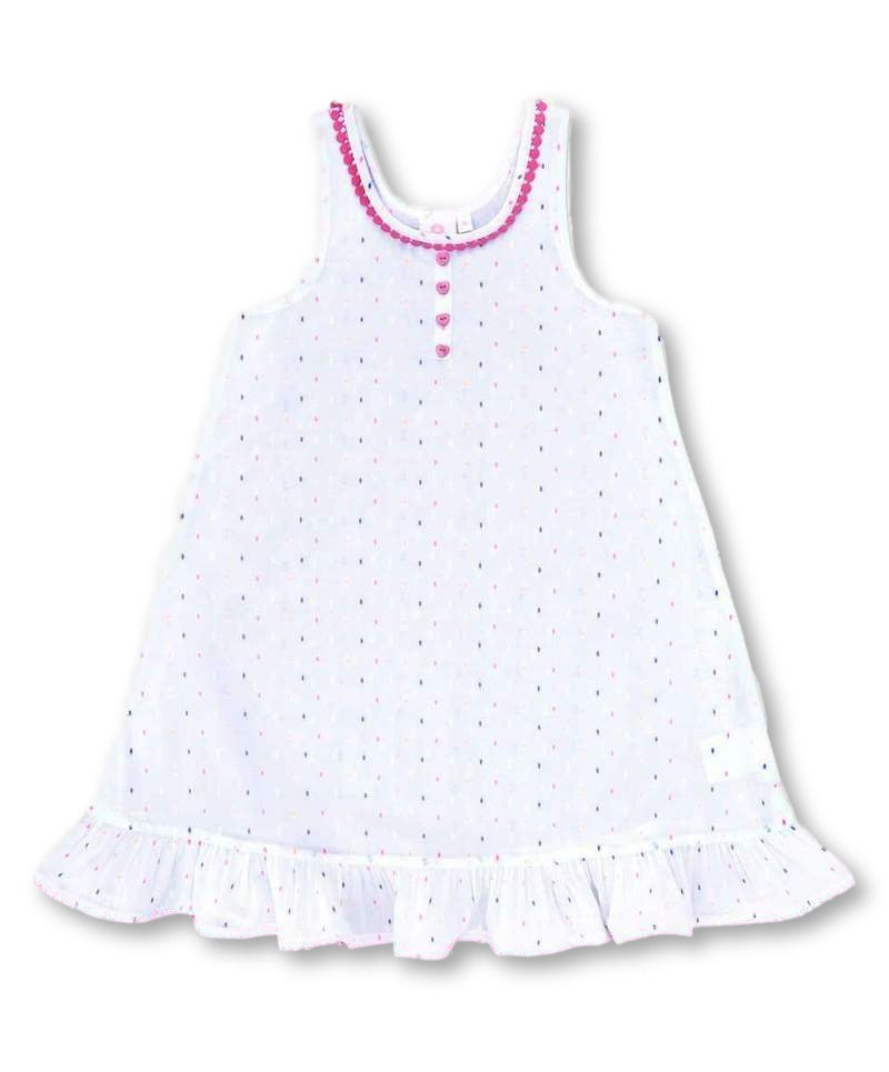 Girls Cotton Nightdress Polka Dot Design