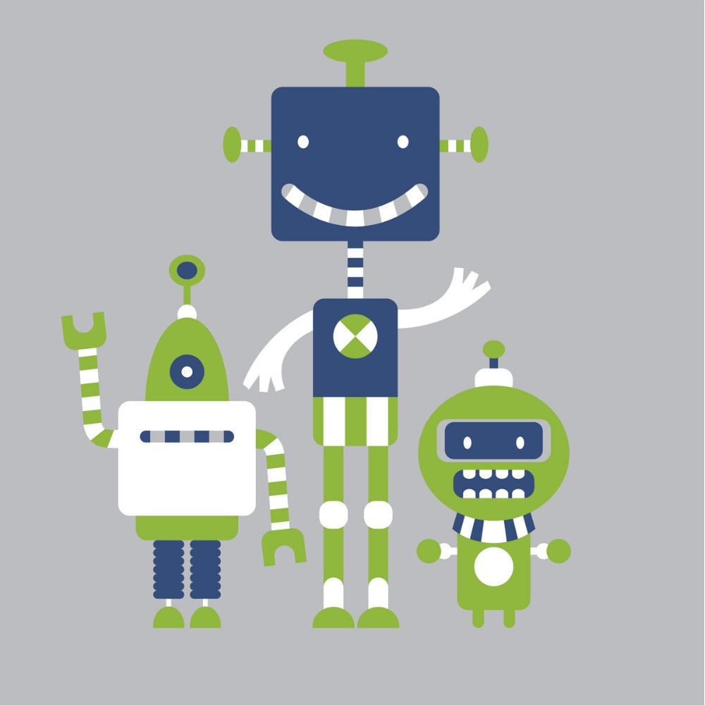 Organic Pima Cotton Boys Pajamas: Robots Are Friends Design - Lilala KIDS