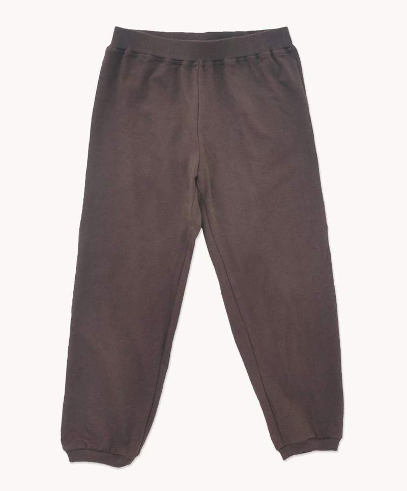 unisex kids pyjamas in chocolate brown bottons