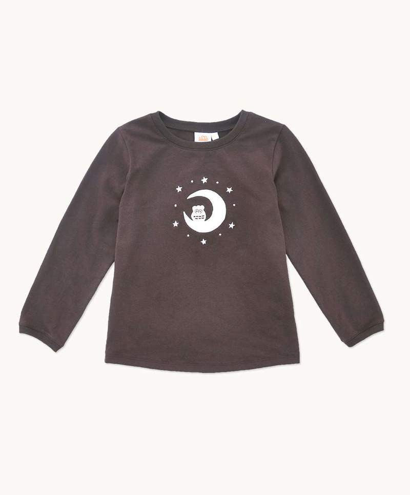 unisex kids pajamas top in chocolate brown